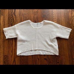 Crop Top Short Sleeved Sweater